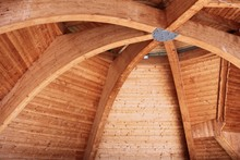 Curved Beam Wooden Roof
