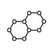 Vector icon molecules