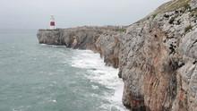 Lighthouse Gibraltar Crashing Waves P HD 9700
