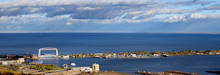 View Of Duluth Lift Bridge And Park Point In Fall