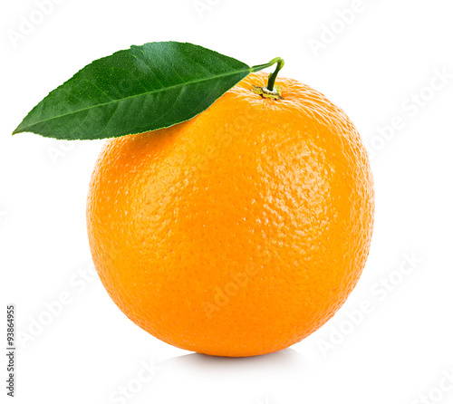 Staande foto Vruchten Orange fruit isolated on a white background.