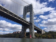 George Washington Bridge Over Hudson River, NYC