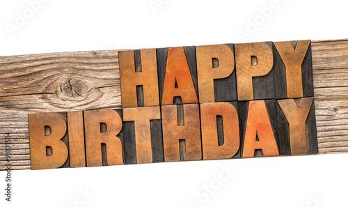 Photo  Happy Birthday greeting card