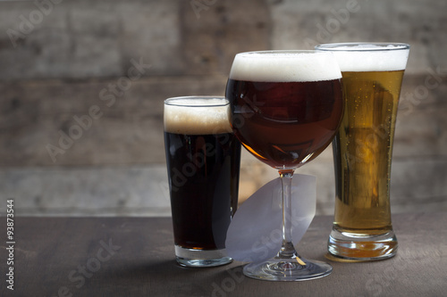Canvas Prints Beer / Cider Different glasses of beer