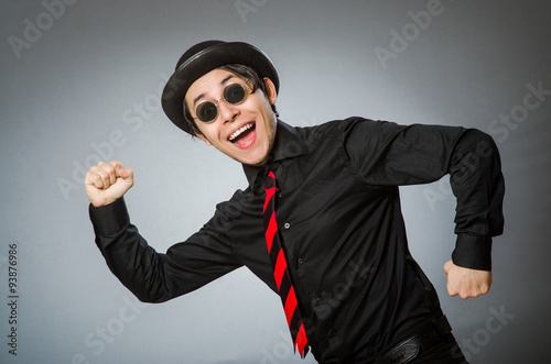 Photo  Funny man with vintage hat