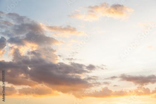Foto op Plexiglas Zonsondergang Sky cloud evening
