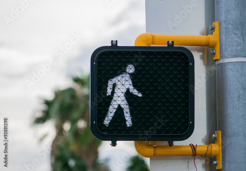 Time to Walk - Crossing Light Fotobehang