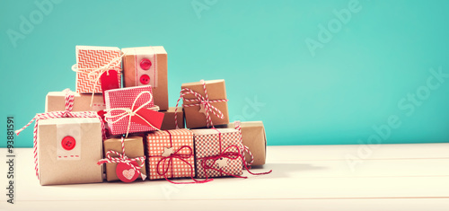 Photo  Collection of little handmade gift boxes