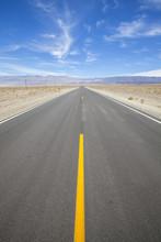 Desert Highway In Death Valley...