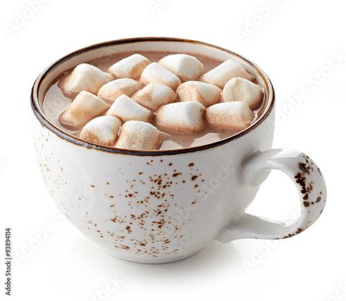 Foto op Plexiglas Chocolade Cup of hot cocoa