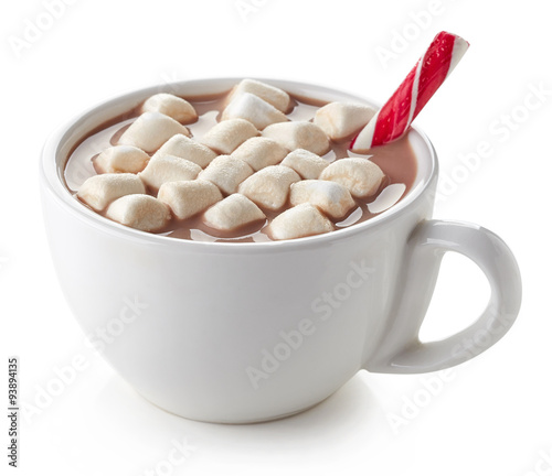 Spoed Foto op Canvas Chocolade Cup of hot cocoa