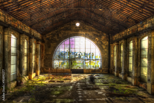 Printed kitchen splashbacks Old abandoned buildings abandonned electrical factory glass dome