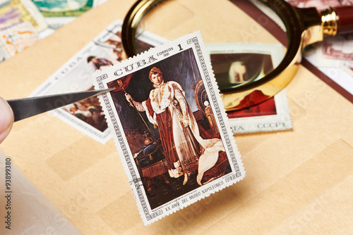 Fotografía Postage stamp with picture of Napoleon