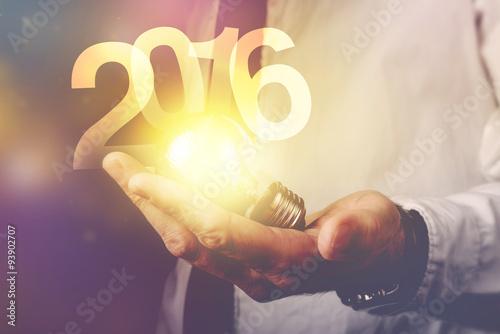 Fotografia  Happy new 2016 business year