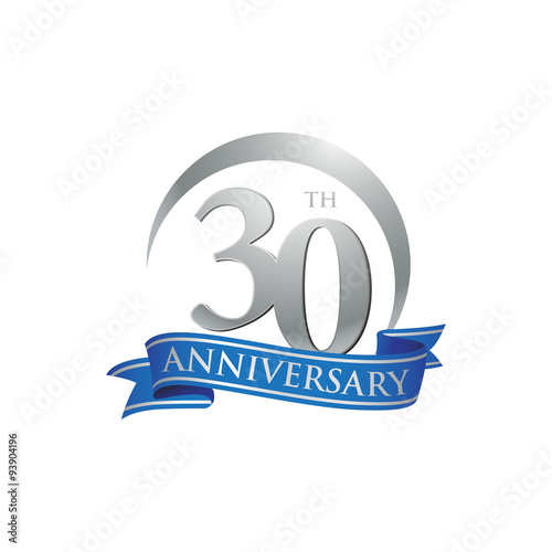 Poster  30th anniversary ring logo blue ribbon