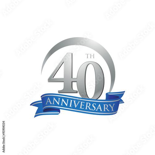 Fotografia  40th anniversary ring logo blue ribbon