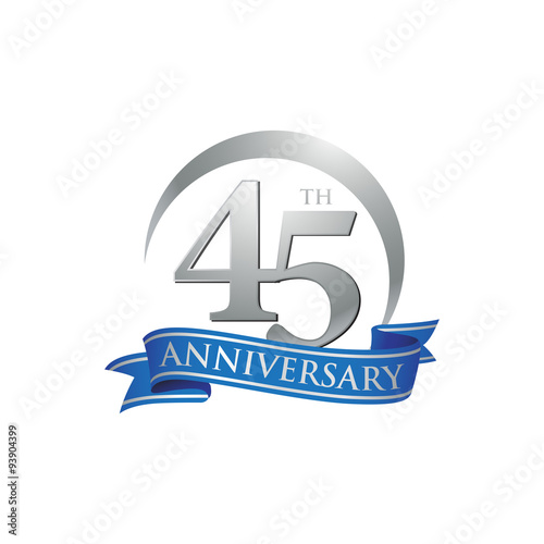 фотография  45th anniversary ring logo blue ribbon
