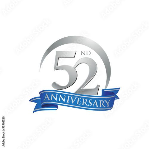 Papel de parede  52nd anniversary ring logo blue ribbon