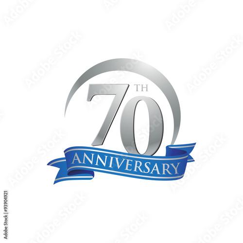 Photographie  70th anniversary ring logo blue ribbon