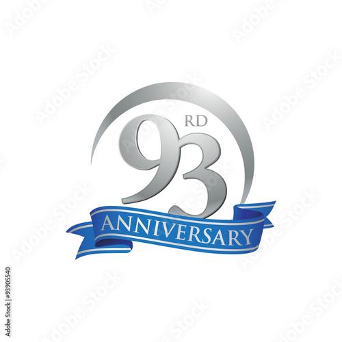 Fotografie, Obraz  93rd anniversary ring logo blue ribbon