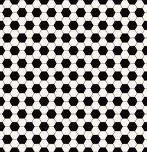 Monochrome Football Pattern
