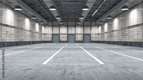 Obraz Large modern storehouse with some goods - fototapety do salonu