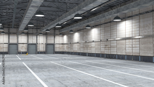 Staande foto Industrial geb. Large modern storehouse with some goods