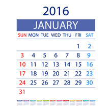 2016 Calendar Simple Design Ve...