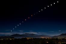 Blood Moon/Supermoon Eclipse Over Santa Fe