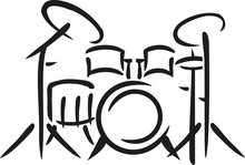 Drums Sketch Style