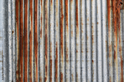 Foto  rusty corrugated iron metal texture and background