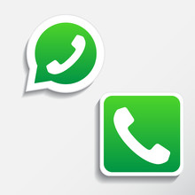 Phone Icons Set In Speech Bubble And Button
