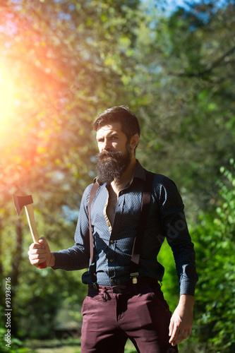 Valokuva  Logger with beard