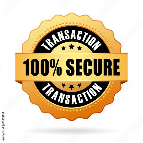 Fotografía 100 secure transaction icon