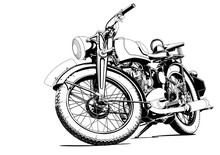 Motorcycle Old Illustration