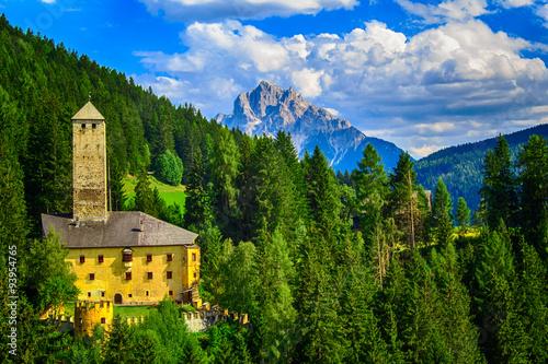 Fotografie, Tablou  A castle in the Dolomites