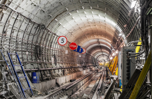 Fototapety, obrazy: The construction of the subway tunnel