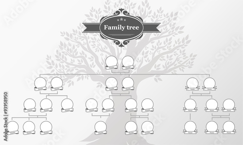 Genealogical tree of your family. Fototapet