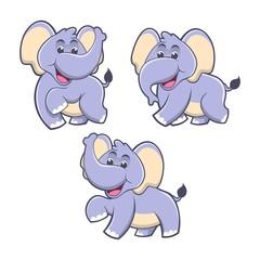 Obraz na płótnie Canvas elephant cartoon package