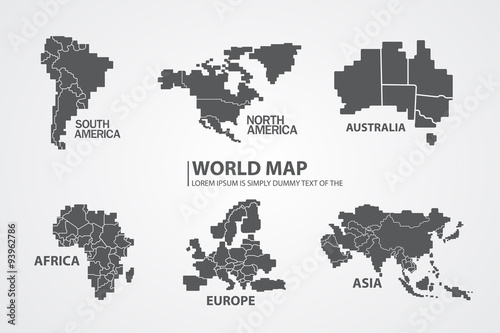 Fotografie, Tablou  World map