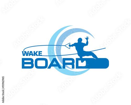 wakeboarding logo Wall mural