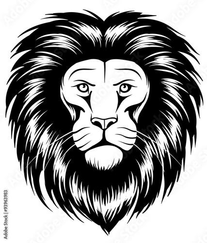 Photo sur Toile Croquis dessinés à la main des animaux Lion