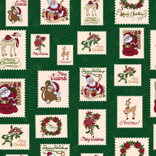 Vector Vintage Holiday Stamps ...