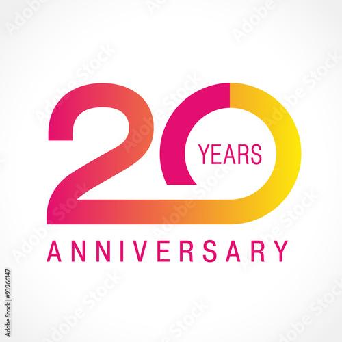 Fotografia  20 anniversary classic logo