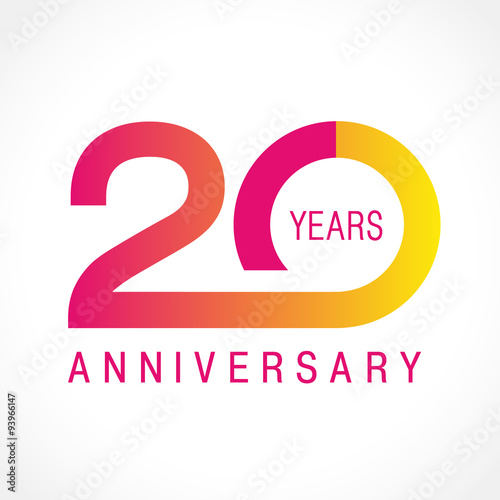 Valokuva  20 anniversary classic logo
