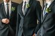 canvas print picture - elegant groom