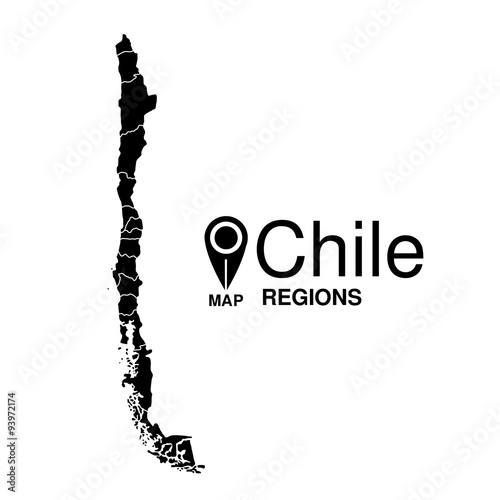Chile Regions Map on
