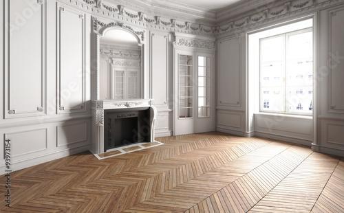 Fotografie, Obraz  Jugendstil Apartment leer