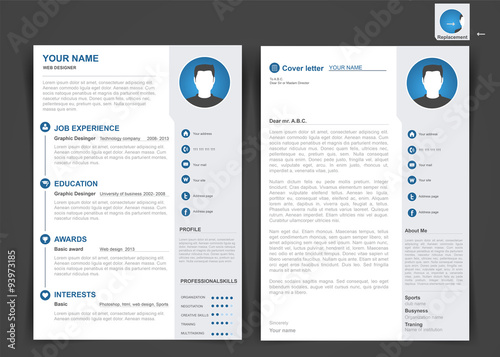 professional cv  resume template of two pages  a4 formate