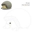 Draw the forest animal hedgehog cartoon